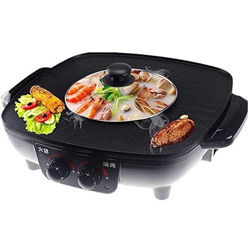 Elektrischen Antihaft-Grill Hotpot /& Grill multifunktionale rauchfreien Kochtopf