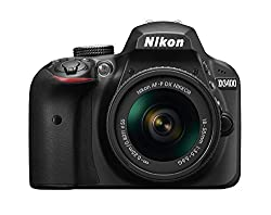 Nikon D3400 Digital Camera Kit (Black) with Lens AF-P DX Nikkor 18-55mm f/3.5-5.6G VR with Card and DSLR Bag