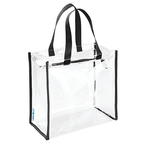 Nya Tasche Zubehörtasche für Pflegeprodukte/Beauty-Produkte, Spielzeuge, Stadion, Strand, Fitnessstudio - Durchsichtig/schwarz, Vinyl, Clear/Black, 30,4 x 15,24 x 29,2 cm (Strand-spielzeug Tasche)
