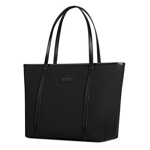 chiceco-large-nylon-work-tote-bag-shoulder-bag-for-women-black
