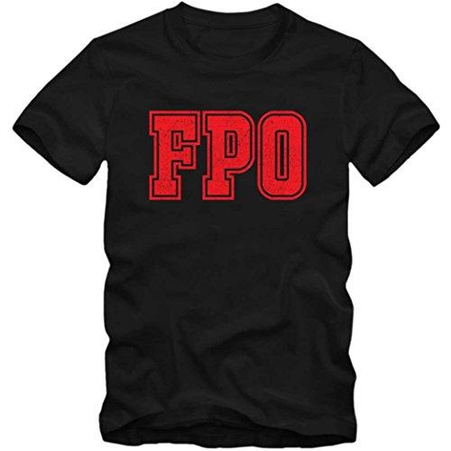 FPO Premium T-Shirt | Airport-Shirt | Freeport -Bahamas | Reisen | Herren | Shirt © Shirt Happenz Schwarz (Deep Black L190)