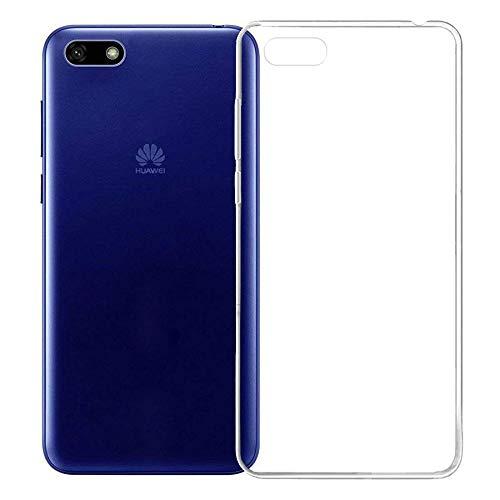 GEEMEE Hülle Silikon für Huawei Y5 Prime (2018), TPU Schutzhülle Ultra Thin Back Cover, Stoßfest Shockproof Handyhülle Flexibel Anti-Kratzer für Huawei Y5 Prime (2018) (Transparent)