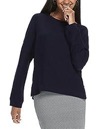 Maison Scotch Women's Crewneck New Sweat Quality With Zip Details Sweatshirt