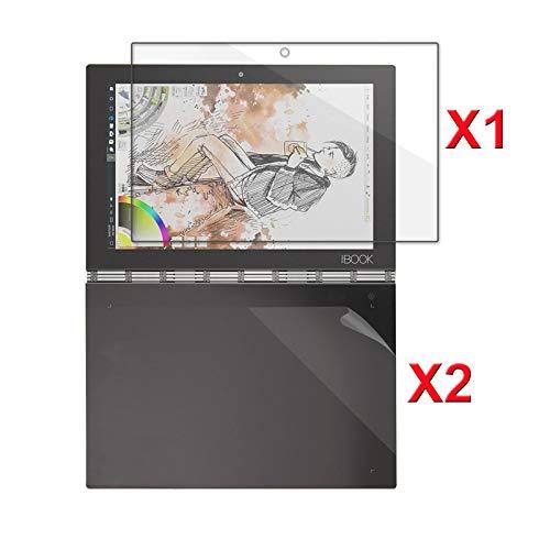 Lenovo Yoga Book Displayschutz , Infiland Glass Folie Schutzfolie Glas Panzerfolie Displayschutzfolie für Lenovo Yoga Book 25,65cm (10,1 Zoll Full HD) 2-in-1 Tablet PC(1x Stahlbildschirm Membrane+2 x Tastatur matte Folie)