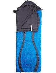 Ferrino - Saco de Dormir Yukon Rectangular, Cremallera Izquierda, sintético, ...
