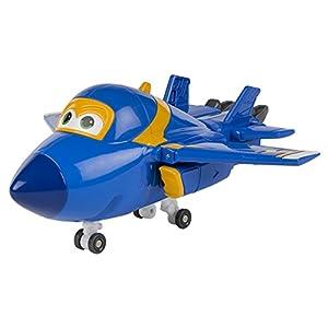 Super Wings - Jerome, personaje transformable, 15 cm, color azul y amarillo (ColorBaby 75874)