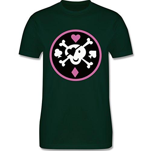 Piraten & Totenkopf - Süßer Totenkopf - Herren Premium T-Shirt Dunkelgrün