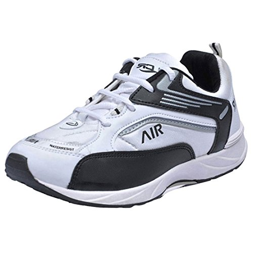 Lancer White Black Men's Running Sports Shoes 7 UK