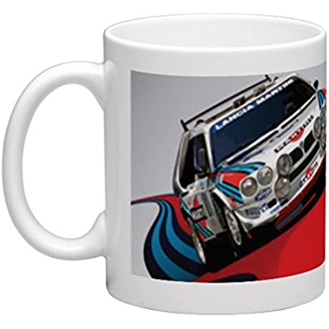 Martini Racing per Lancia Delta Integrale Occasions Direct-Tazza in ceramica, 325 ml - Testa In Ceramica Tazza