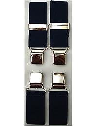 Navy Blue Clip-on Braces