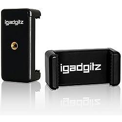 igadgitz Adattatore di fissaggio supporto pinza clip Smartphone Universale per treppiedi e bastone selfie Stick