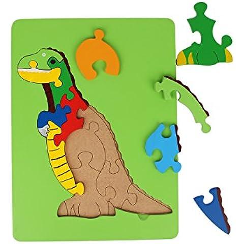 Vivid dragon en forma de rompecabezas de madera educativo DIY Woodcraft juego de rompecabezas para ninos de alta calidad de 10 piezas