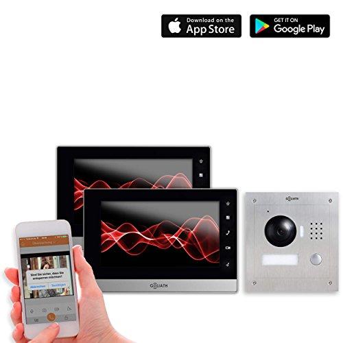 Goliath IP Video Türsprechanlage, Unterputz Türstation, Edelstahl, HD Kamera, App mit Türöffner,...