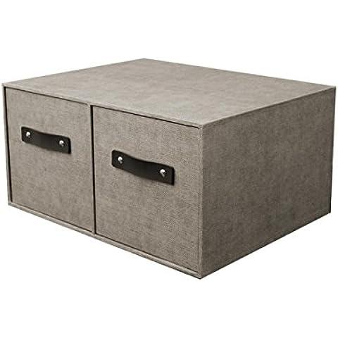 KKCF Household Governo di immagazzinaggio cassetto piccola scatola di immagazzinaggio vestiti calzini Scatole di finitura cosmetica Cassette (34.5 * 26.5 * 17cm) carichi familiari ( colore : Gray )