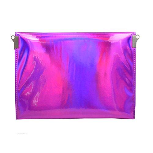LAHAUTE Damen Envelope Clutch Frauen Tasche Mädchen Clutch Bag Handtasche Party Hochzeit Abendtasche rosa