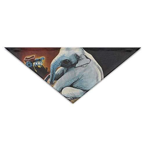 Gxdchfj Bathing The Elephant Turban Triangle Scarf Bib Scarf Pet Cat Baby Puppy Saliva Dog Towel Bandana Bibs Triangle Head Scarfs Accessories (Elephant Head Kostüm)