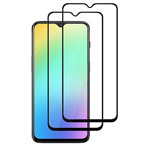 【قطع 2】 ROOTE OnePlus 6T من الزجاج المقسى ، [9H صلابة] [تغطية كاملة] [فائقة المقاومة] [مقاومة للخدش] فيلم واقية لـ OnePlus 6T