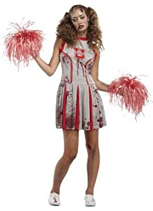 Déguisement Adulte Costume Halloween Femme Pom-pom girl Cheerleader Zombie Small
