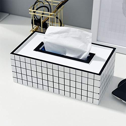 Yoillione Kosmetiktücher Holz,Tücher Box Tissue Box Abdeckung,Auto Tücherbox Haus Taschentuchbox Weiß,Taschentuchspender Holz Tücherboxen