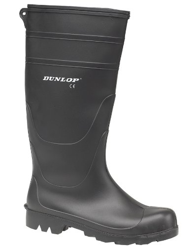 Dunlop Universal PVC Welly / Mens Boots (8 UK) (Black)