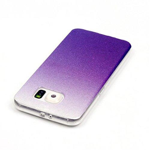 KSHOP Case Cover Stampa Custodia Protettiva per iphone SE /iphone 5 /iphone 5SShell Carcasa Trasparente Ultra Flessibile Colorato Ammortizzante Shock-Absorption Conchiglia - Bianco Blu glitter06
