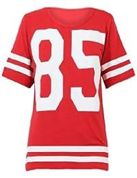 Mix lot des nouvelles femmes dames américain maillot de football de haut 85 impression t-shirt casual wear taille 36-42