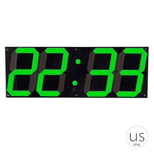 Republe Große Digitale Wanduhr LED für Home Store Fernbedienung Countdown Wecker Stoppuhr Anzeige