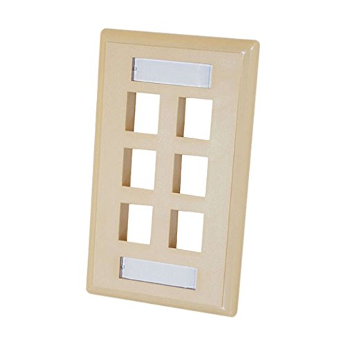 Cables to Go Single Gang Multimedia Keystone Wall Plate Elfenbeinfarben 6-Port (Multimedia-keystone Plate Wall)
