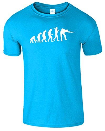 Evolution Of Snooker Herren T Shirt Schwimmbad Komisch Spiel Saphir / Weiß Design