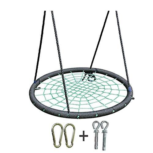 Xuyuanjiashop spider web bird nest nylon corda sicura e durevole sedia a dondolo staccabile accessori amaca regolabile per interni ed esterni ( color : green-d )
