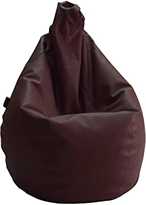 Puff de Pera Adulto XL Polipiel Marron (85x85x135)