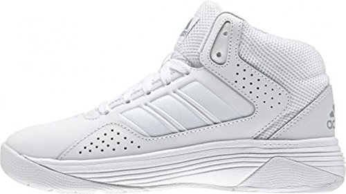 adidas Cloudfoam Ilation Mid, Chaussures de Sport-Basketball Homme Multicolore - Blanco / Gris (Ftwbla / Ftwbla / Onicla)
