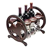 TIDLT Weinregal Weinglashalter (High Density Board), Stemware Racks Organizer (Farbe : Wine red-33 * 27 * 28cm)