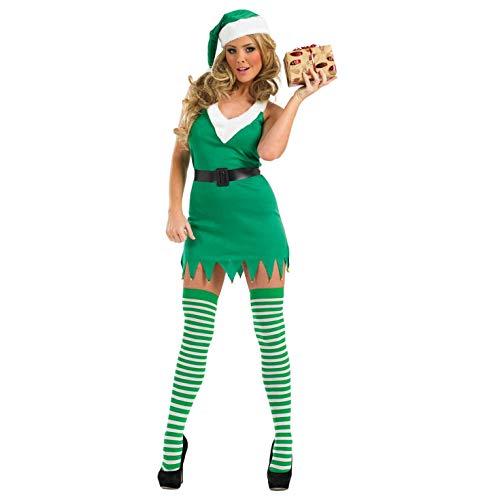 Fun Shack Costume, Elf Green & White, m Donna