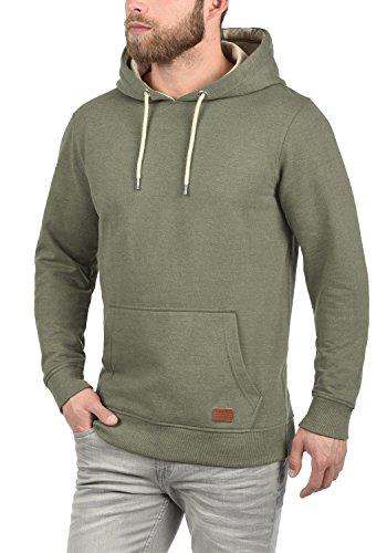 BLEND Suker Herren Kapuzenpullover Hoodie Sweatshirt aus hochwertiger Baumwollmischung Meliert Ivy Green (77026)