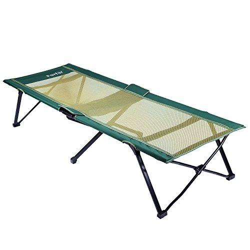 Forfar Campingbett Feldbett 190*65*38cm Belastbarkeit bis 120kg mit Transporttasche