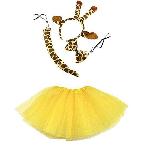 Unbekannt Giraffe Kinder oder Damen Kostüm - Giraffe Costume Set - vertrieb durch ABAV (Mädchen Komplett Set) (Mädchen Kostüm Giraffe)