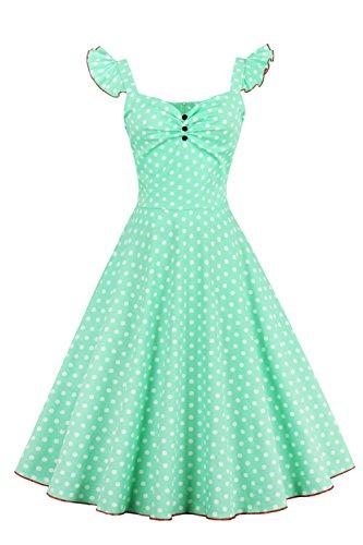 Babyonline Damen Retro 50er Jahre Kleidung ärmelloses Ballkleid S
