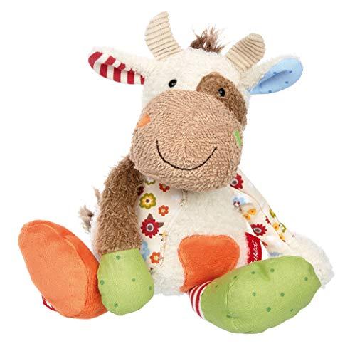 sigikid, Mädchen und Jungen, Stofftier Kuh Sweety,Weiß/Bunt, 38309 (Kuh Puppe)