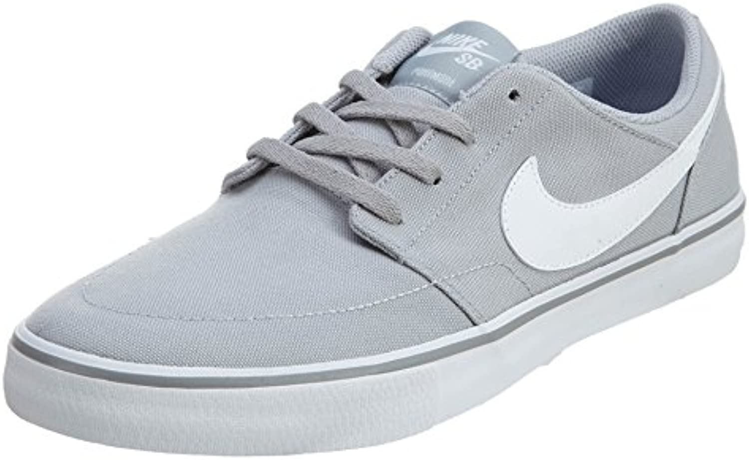 Nike SB Portmore II Solar Canvas Wolf Grey/White/Black Men's Skate Shoes
