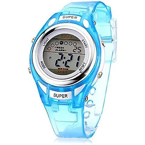 Fenkoo Multifuncional digital LCD de silicona banda reloj de pulsera para la Infancia (colores