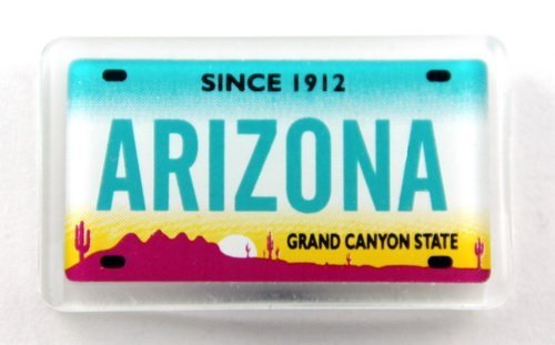 "Arizona License Plate Acrylic Small Fridge Collector's Souvenir Magnet 2"" X 1.25"""