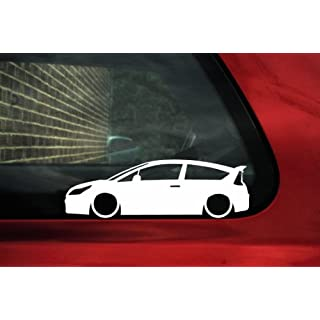 Abgesenkt Auto Silhouette Aufkleber-für Citroen C4Coupe VTI, VTS 1. Gen.