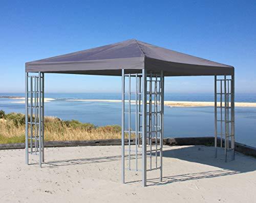 Quick-Star Rank Pavillon 3x3m Metall Garten Partyzelt Anthrazit