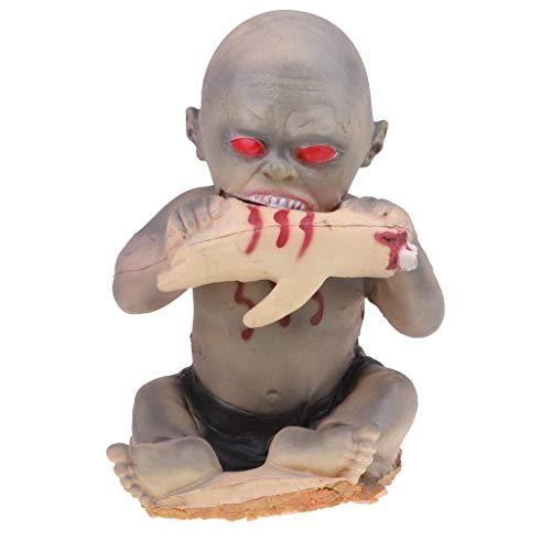 D DOLITY Schreckliche Babypuppe Geisterpuppe Zombie Puppe Halloween Requisiten Spielzeug Dekoration - A