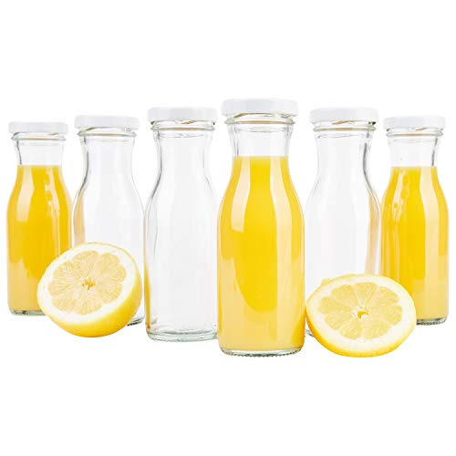 tflasche 150 ml + Twist-Off Deckel TO43 weiß I Karaffe I Deko-Vasen I Vorratsglas klein I Trinkflaschen I Schüttdosen I Aufbewahrungsgläser ()