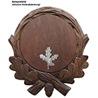 Jagd-Schnitzerei Peter Keilerbrett handgeschnitzt inkl. Abdeckung Keilerbrett 17 cm