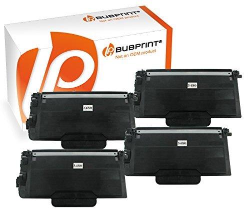 Bubprint 4 Toner kompatibel für Brother TN-3480 TN 3480 für DCP L5500DN L6600DW HL-L 5100DNT HL-L 6300 DW MFC L5700DN L5750DW L6800DWT L6900DW Schwarz -