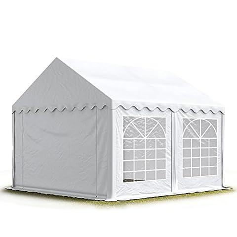 PROFIZELT24 Party-Zelt Festzelt 3x4m Garten-Pavillon -Zelt mit Fenstern, hochwertige 500g/m²