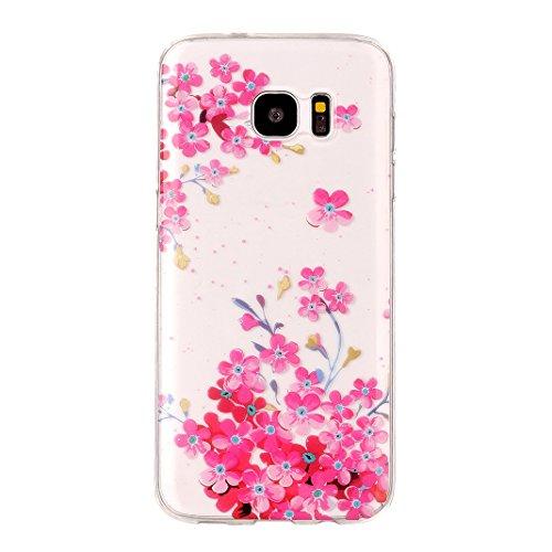 Hülle Galaxy S7 Edge, Asnlove Neue Modelle Crystal Case Handy Schutzhülle TPU Silikon Transparent Schutz Handy Hülle Case Tasche Etui Bumper für Samsung Galaxy S7 Edge G935, Augen Donuts Color-3